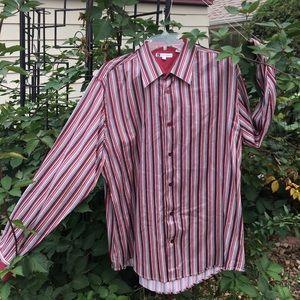 Bachrach Men's French Cuffed Dress Shirt XL
